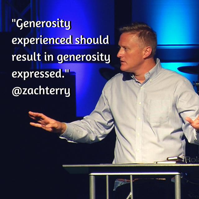 %22Generosity experienced should result in