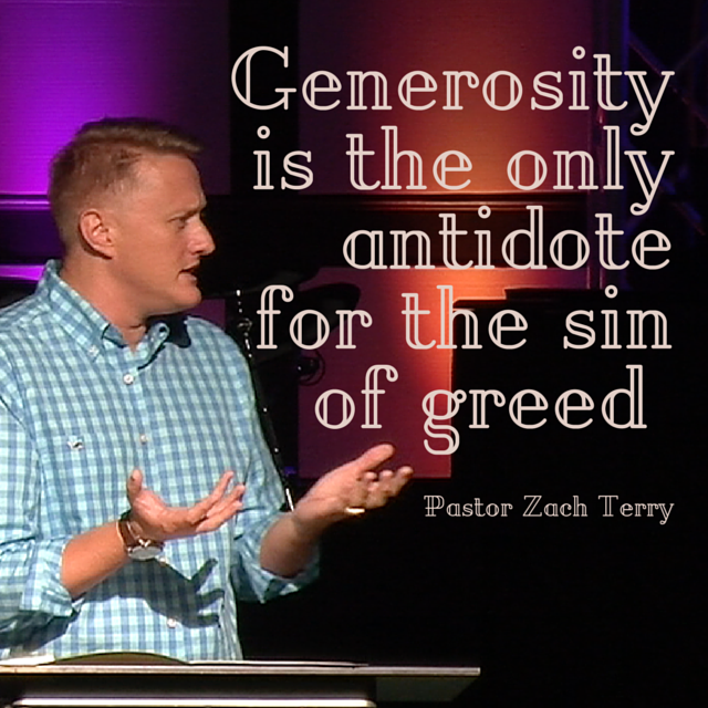 Generosity is the only antidote for the